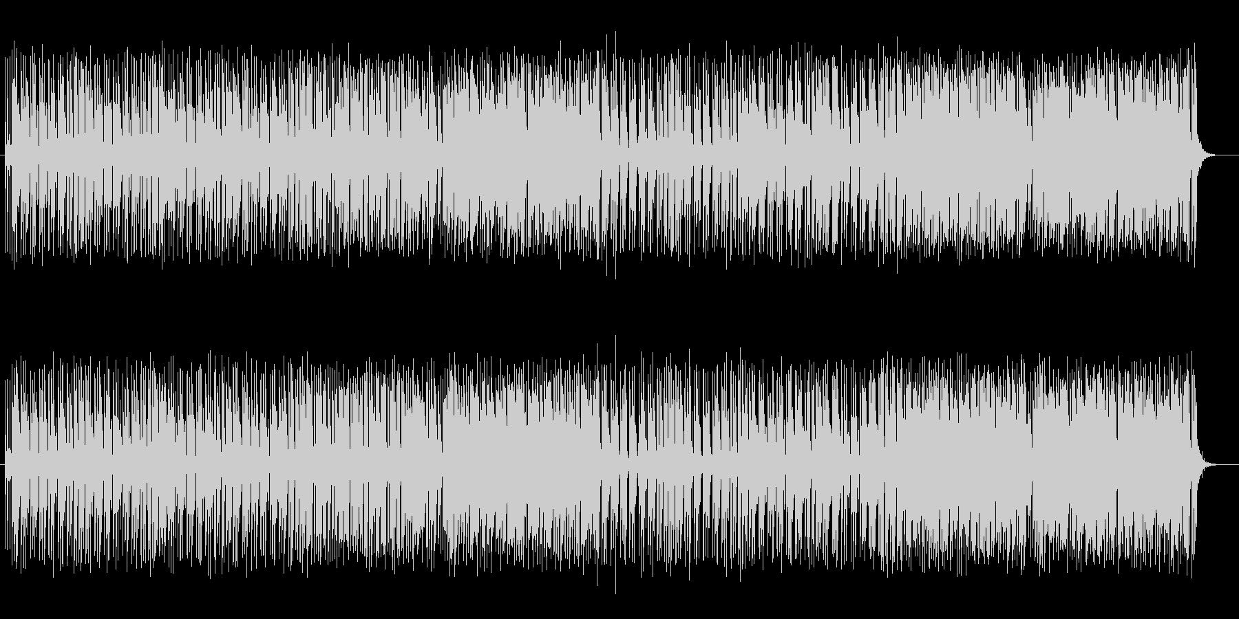 可愛いアップテンポのシンセサイザーの曲の未再生の波形