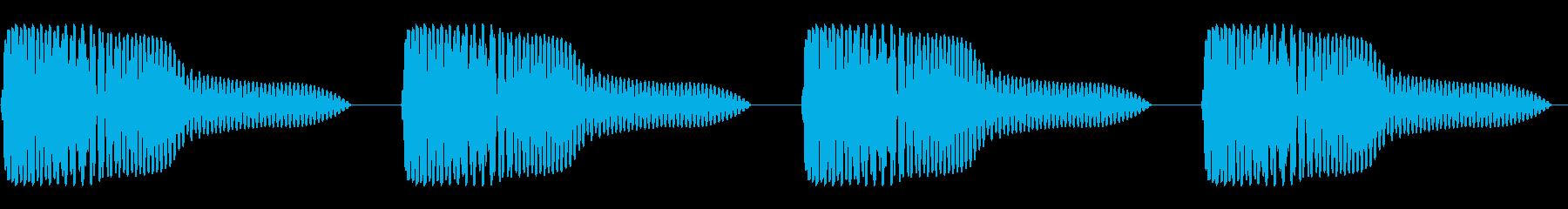 ゴムボール(4回)の再生済みの波形
