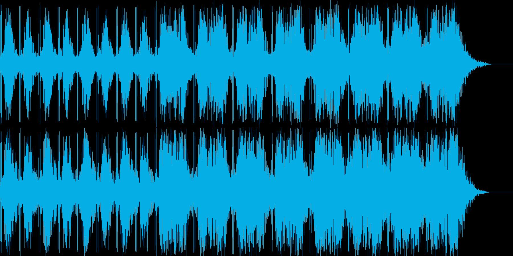 不穏で不気味な雰囲気のBGMの再生済みの波形