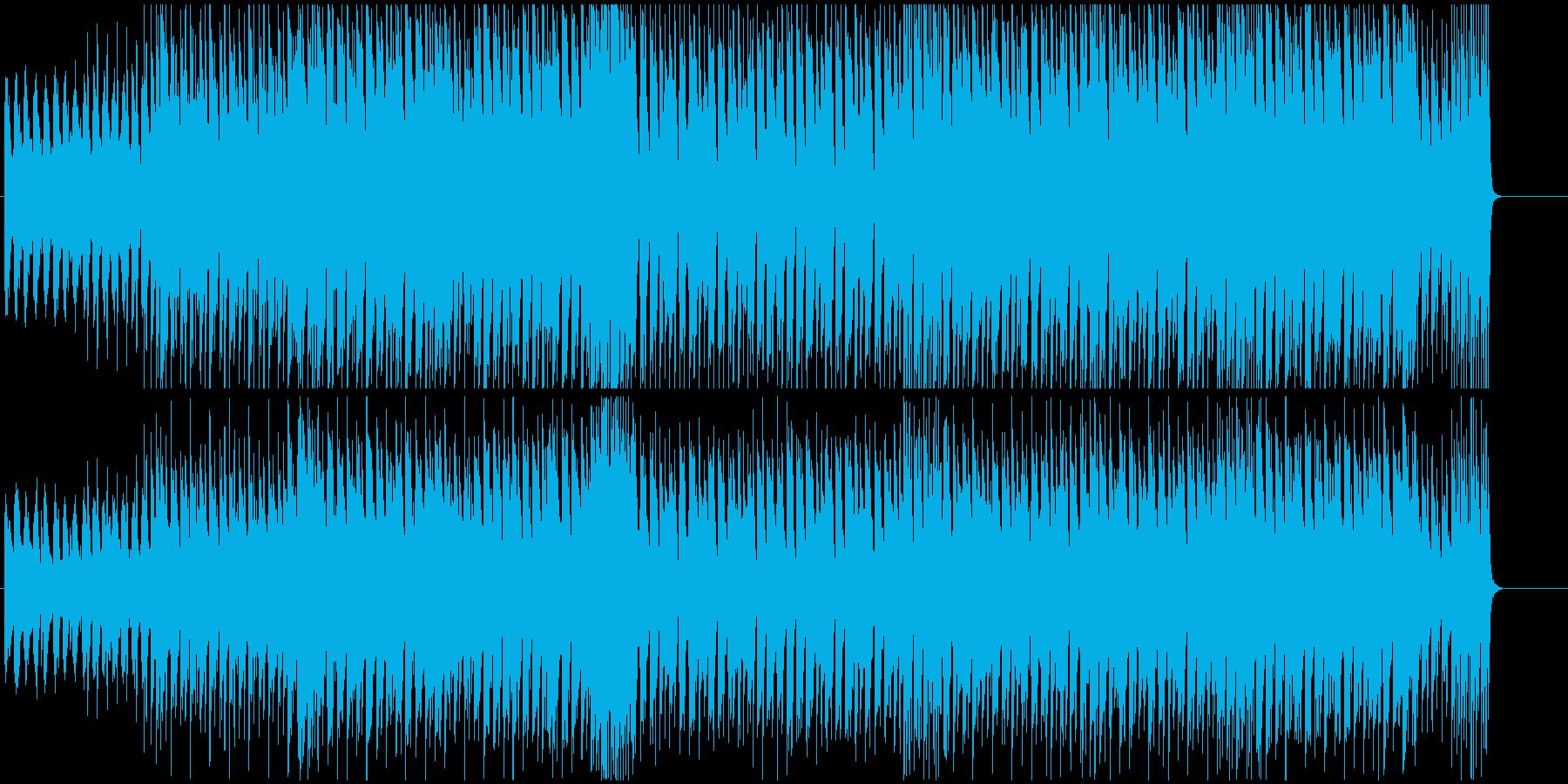 激しくインパクトあるメロディーの再生済みの波形