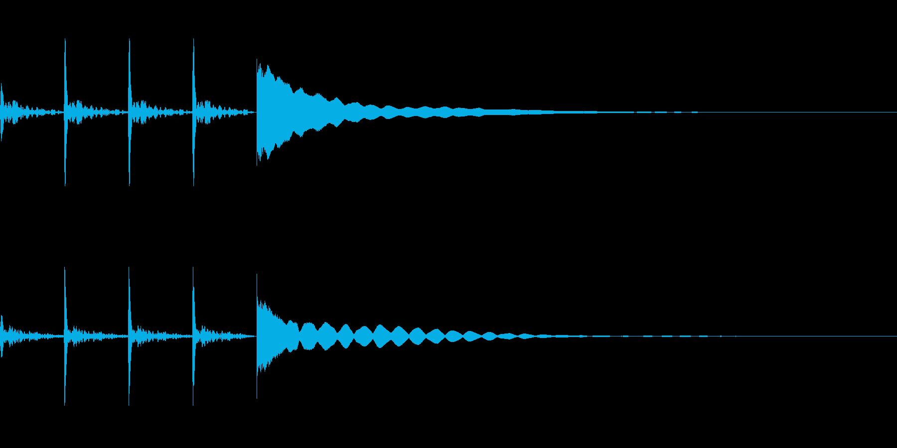 考え中~ポクポクチーン~の再生済みの波形