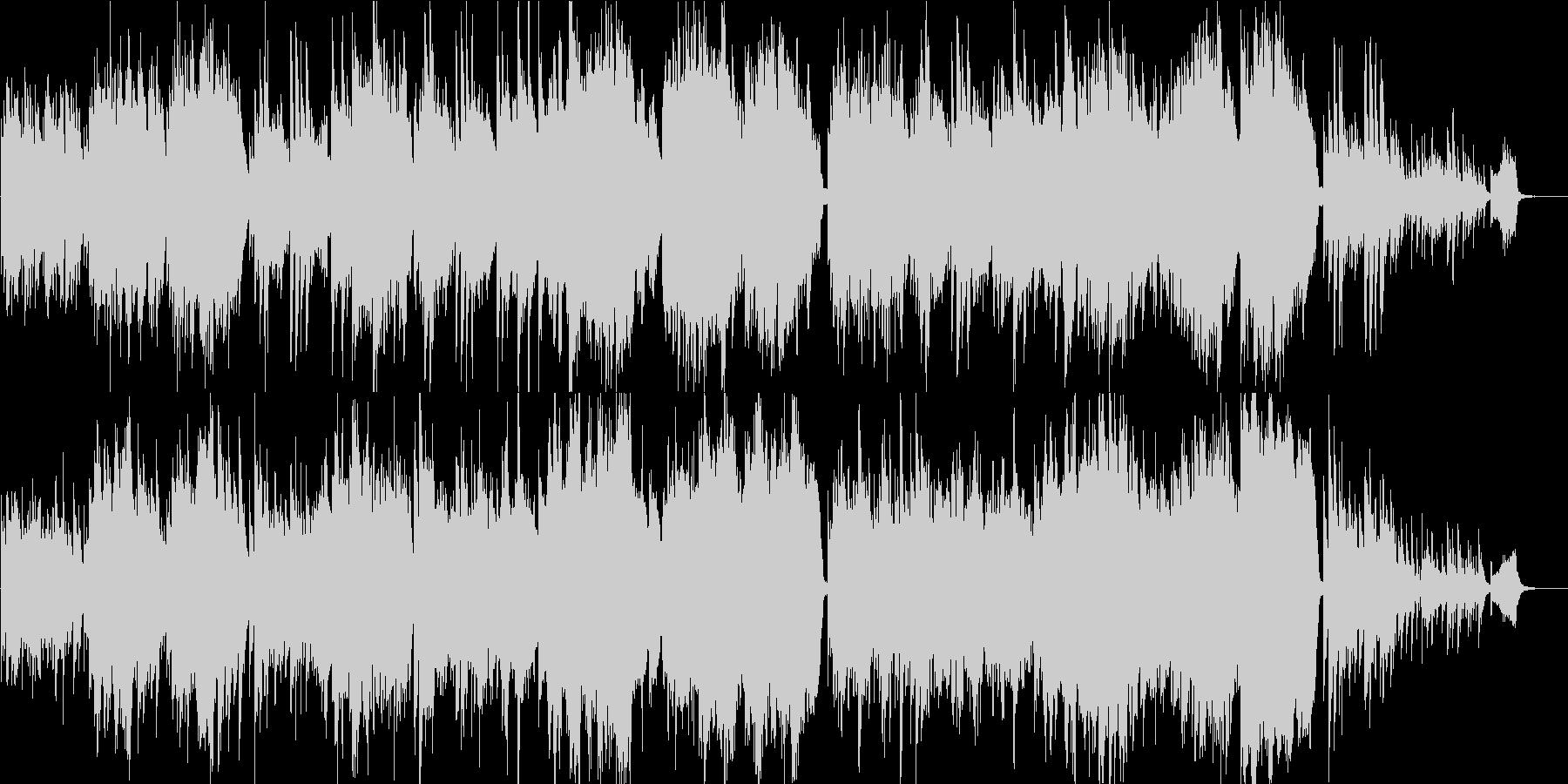 感動映像のためのピアノとストリングスの未再生の波形