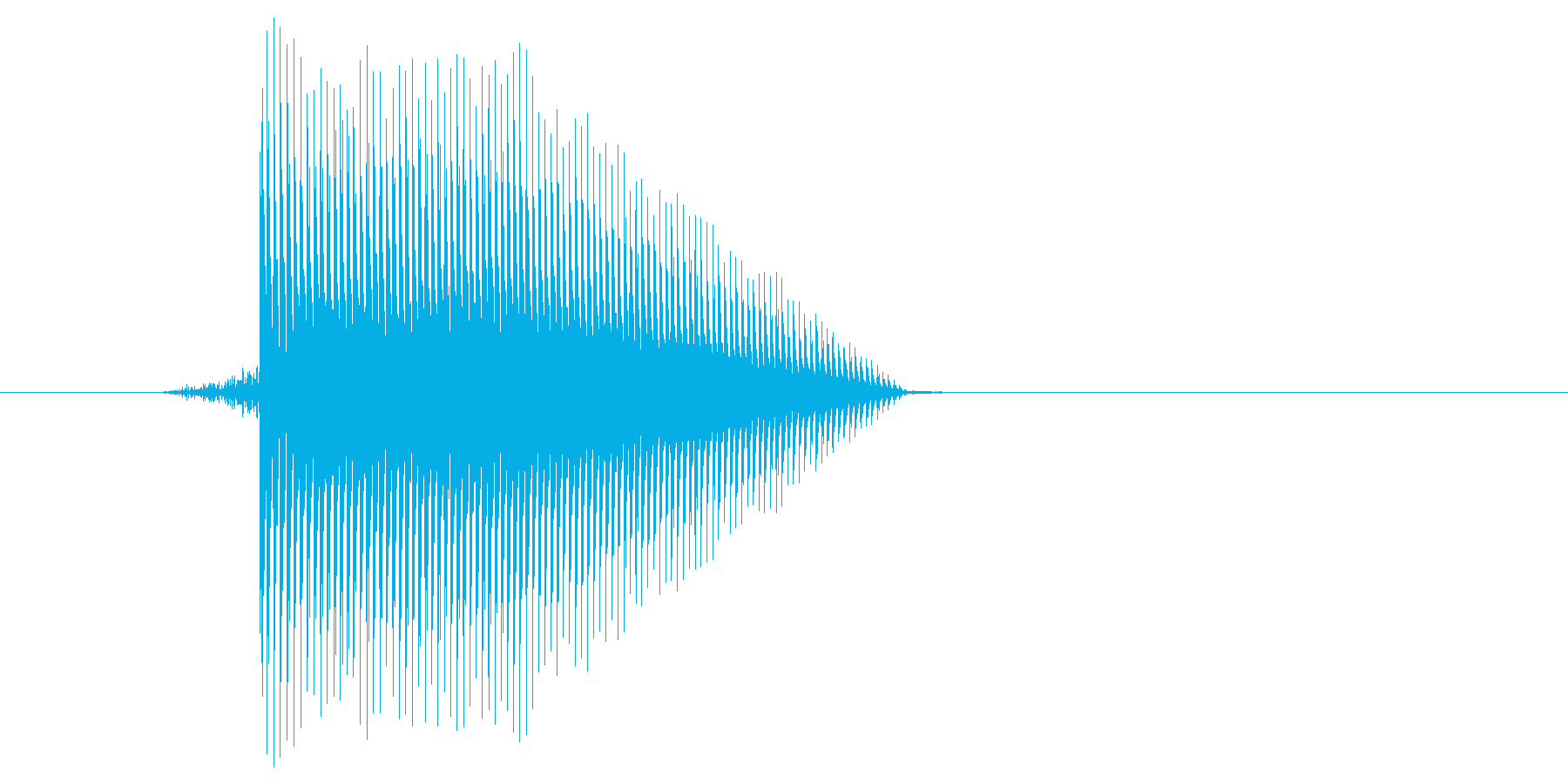 ゲーム(ファミコン風)ジャンプ音_020の再生済みの波形