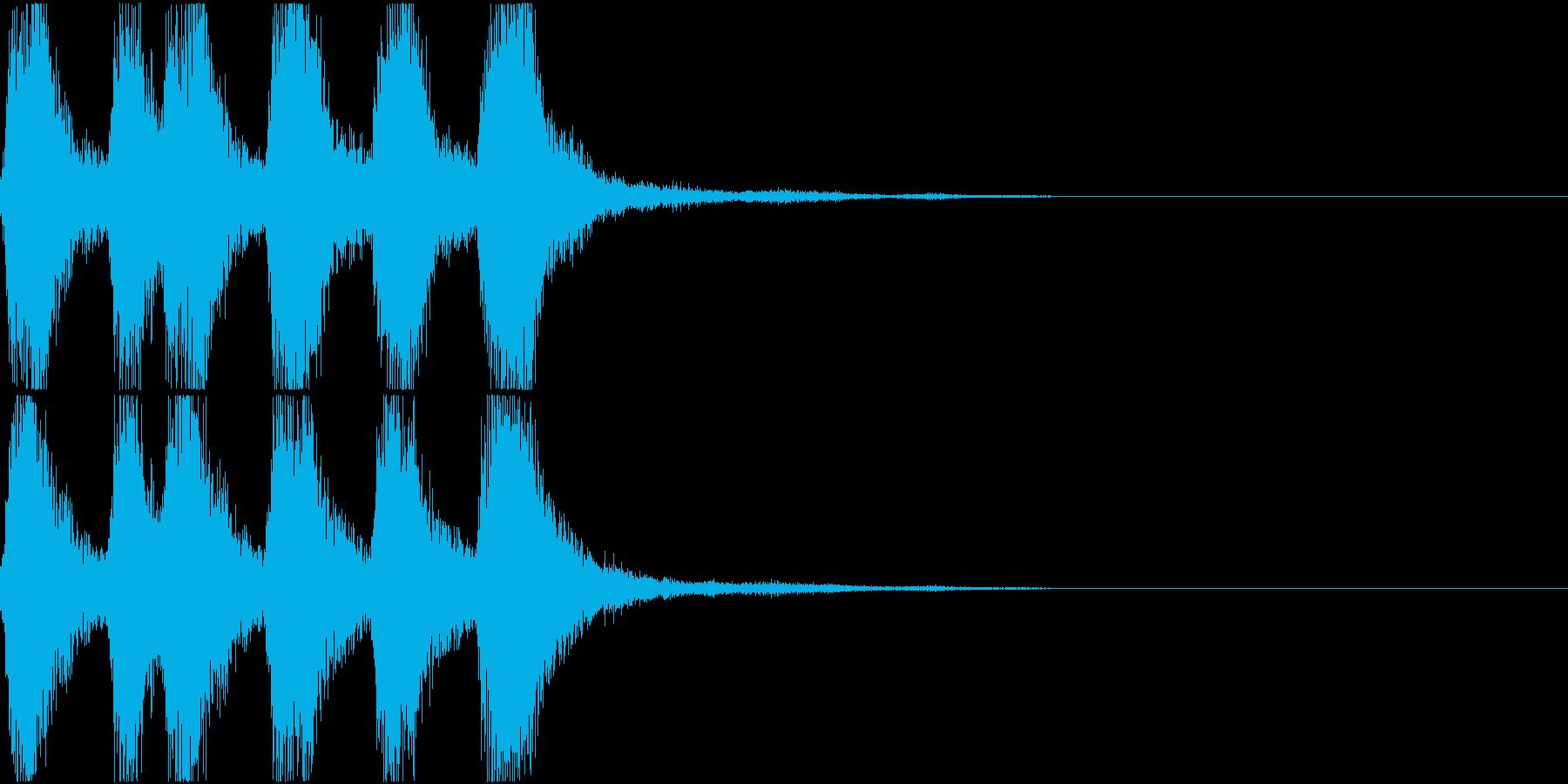 ラッパ ファンファーレ 定番 15の再生済みの波形