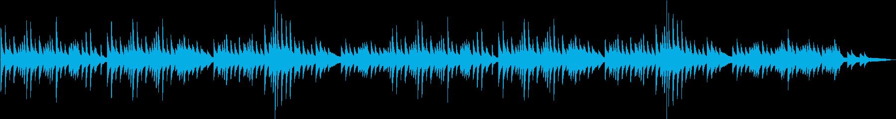 ゆったり3拍子フワフワ浮遊感ピアノBGMの再生済みの波形