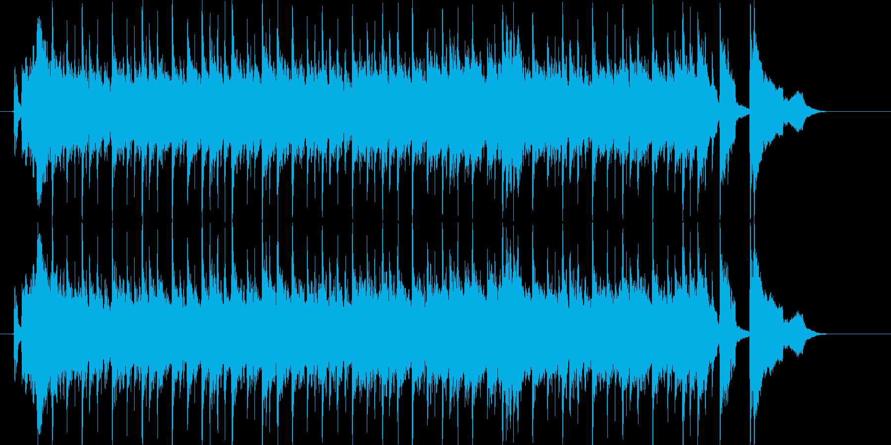 伸びやかでエレクトーンが印象的なBGMの再生済みの波形