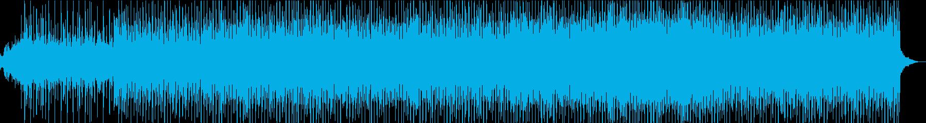 キラキラとしら雰囲気のテクノポップの再生済みの波形