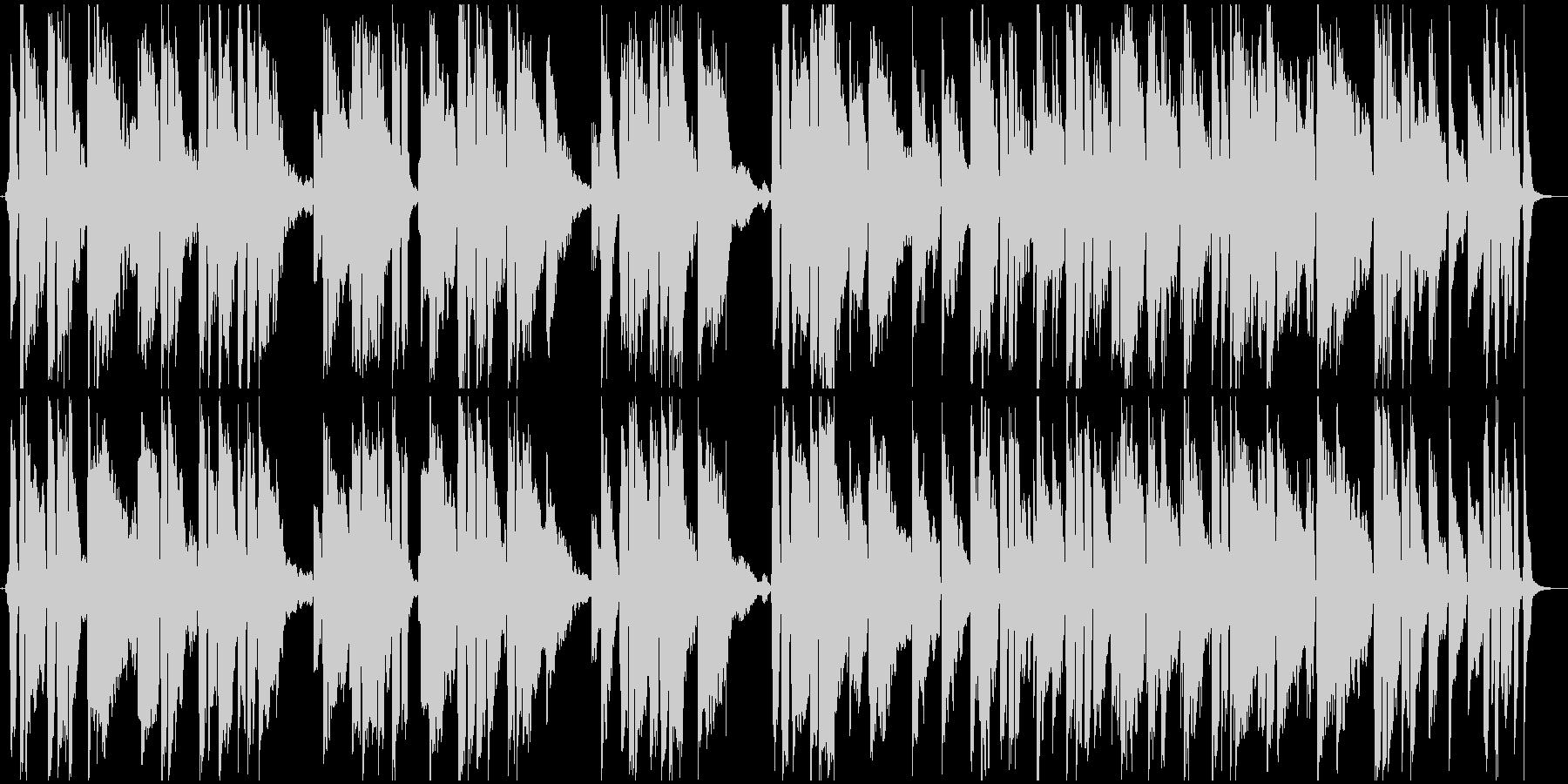 ゆったりしたテンポのサマーBGMの未再生の波形