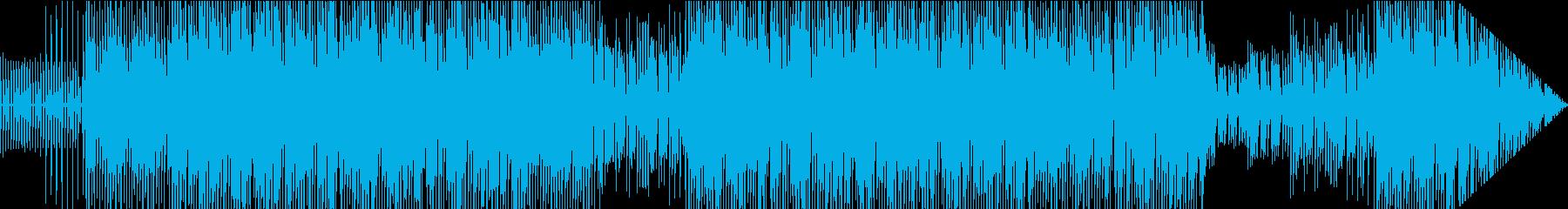 ダンスミュージック風のスタイルポップの再生済みの波形