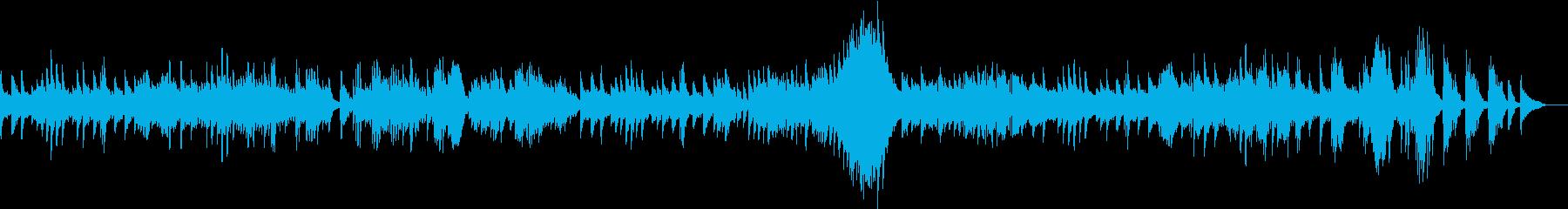 ベートーヴェンピアノソナタ悲愴第二楽章の再生済みの波形