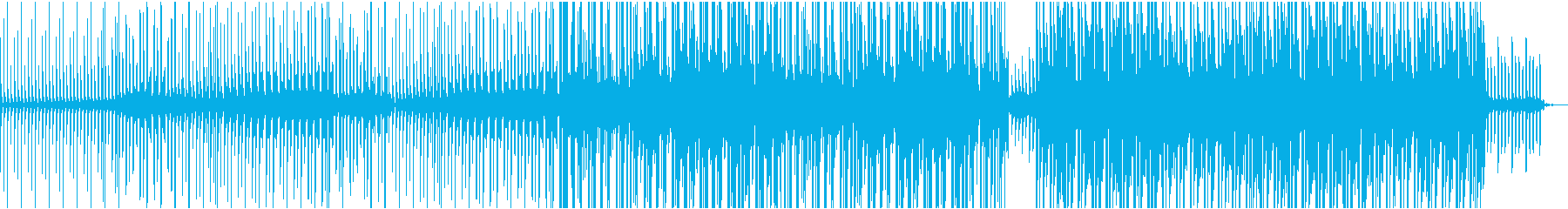 シンプルなコード感の爽やかなBGMの再生済みの波形