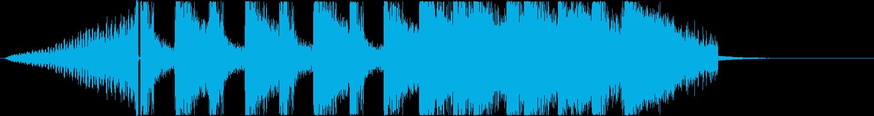 派手で躍動感ある登場系ジングルの再生済みの波形