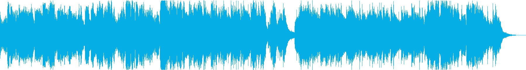 ひまわりの映像等に最適な華やかな感じの曲の再生済みの波形