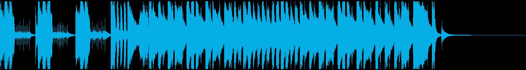 かわいいオープニングソングの再生済みの波形