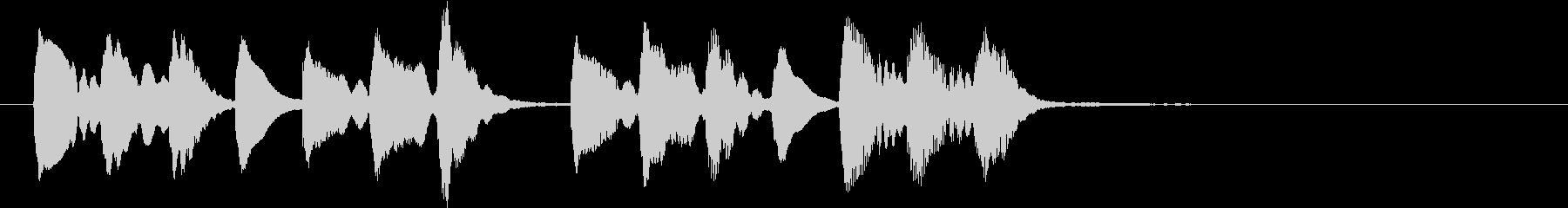 ほのぼのした場面切り替えに使えるジングルの未再生の波形