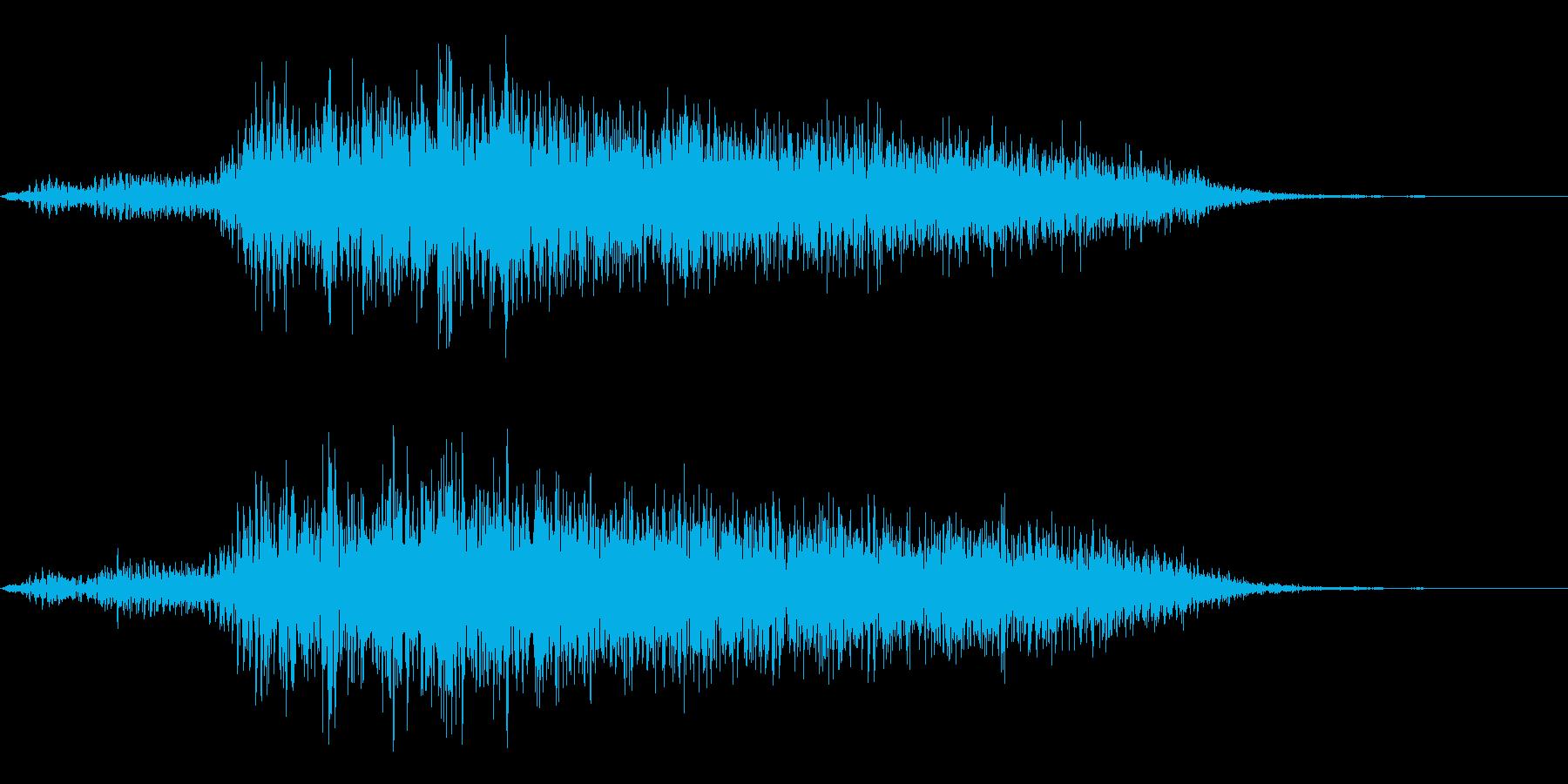 ヤギの鳴き声(メェー)の再生済みの波形