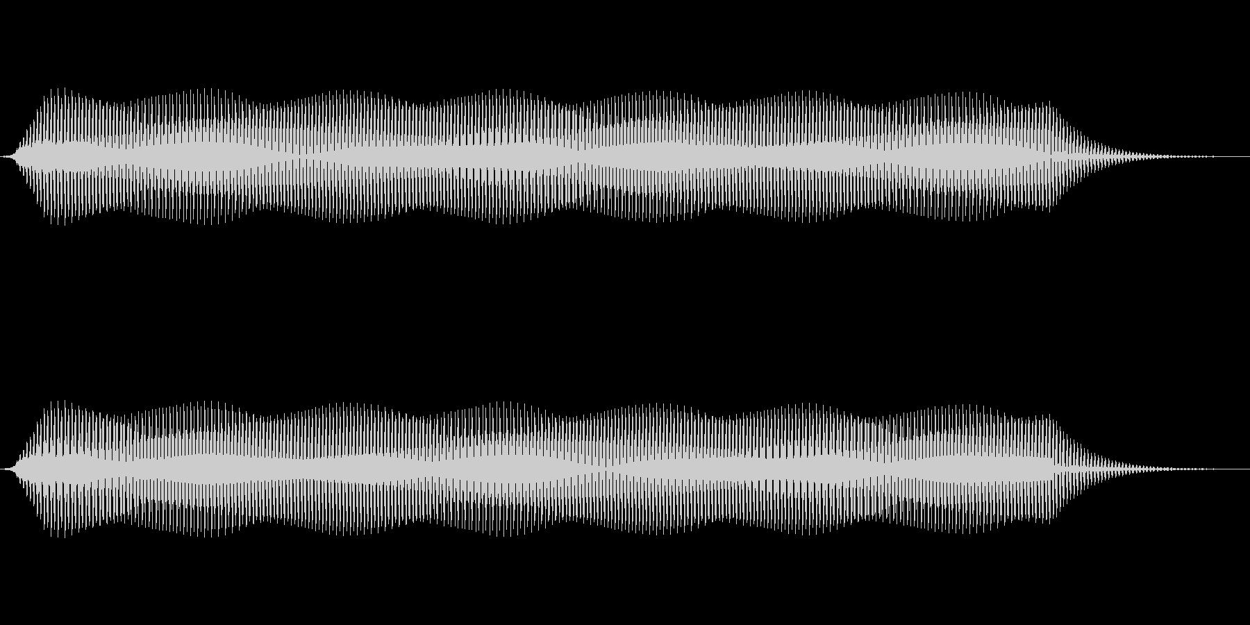 ピッ(電子音、カーソル、選択音) の未再生の波形