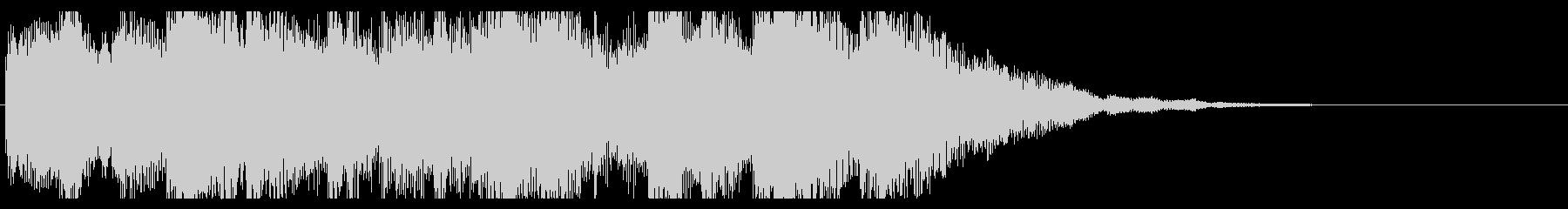 ミステリアスなピアノのジングル の未再生の波形