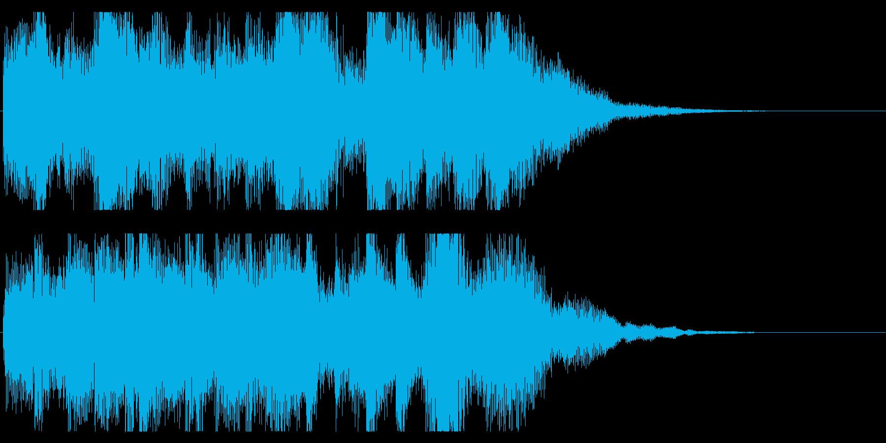 ミステリアスなピアノのジングル の再生済みの波形