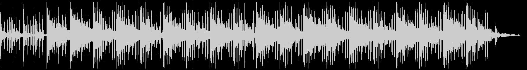 暗い雰囲気のローファイヒップホップの未再生の波形