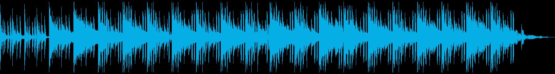 暗い雰囲気のローファイヒップホップの再生済みの波形