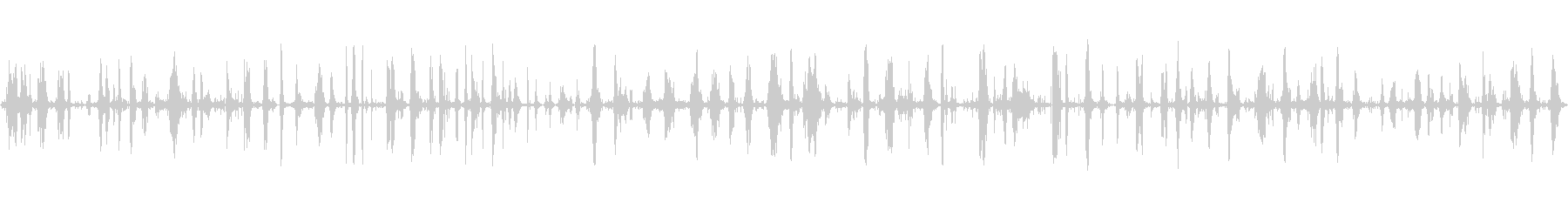 【生録音】枯葉を足で踏み鳴らす音の未再生の波形