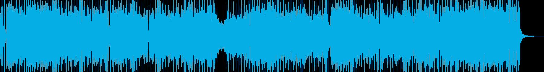 危機・荒々しいテクノ エレキギター有の再生済みの波形