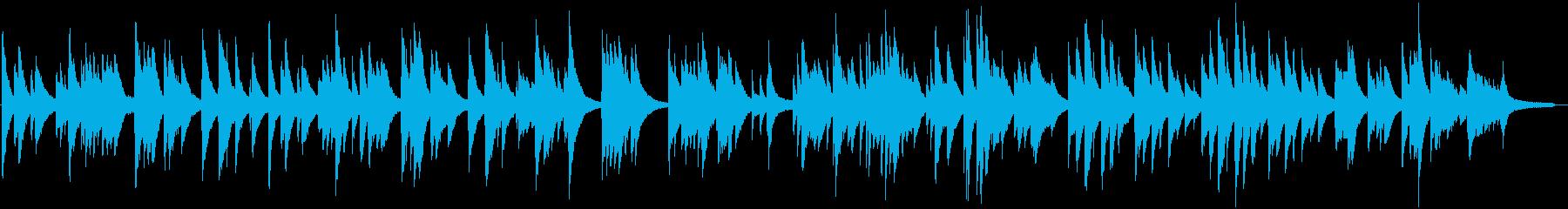 切ないドラマ仕立て的なピアノ曲の再生済みの波形