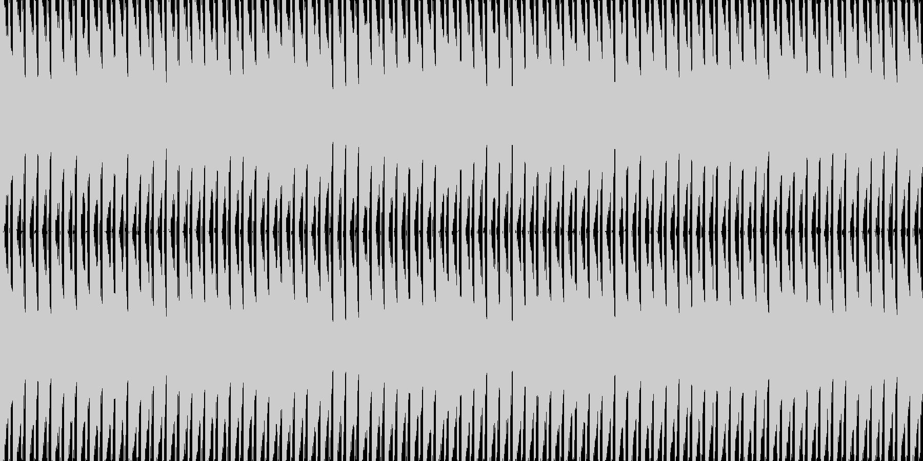 重ためのビートの未再生の波形
