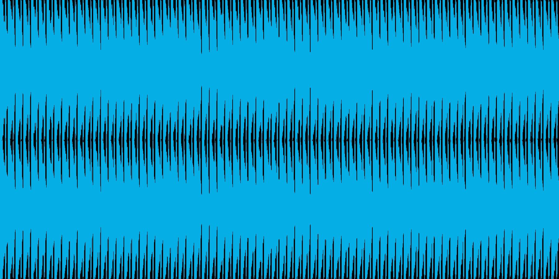 重ためのビートの再生済みの波形