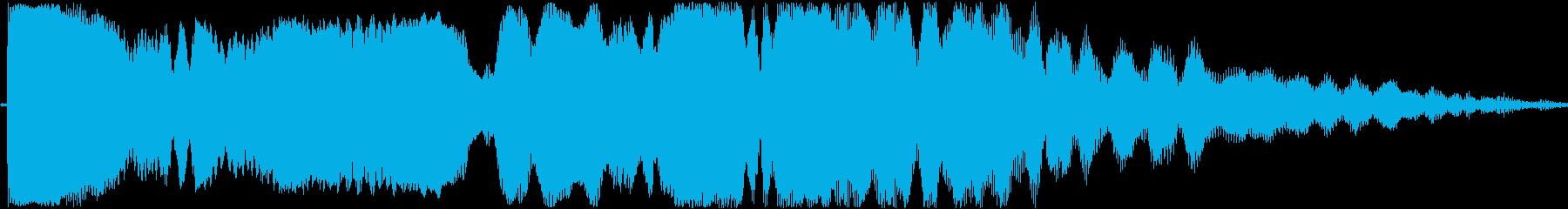 効果音。ピィーユ音(投げる音)の再生済みの波形