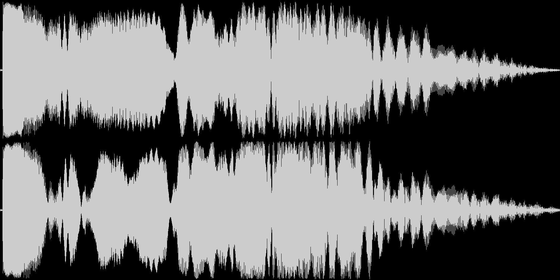 効果音。ピィーユ音(投げる音)の未再生の波形