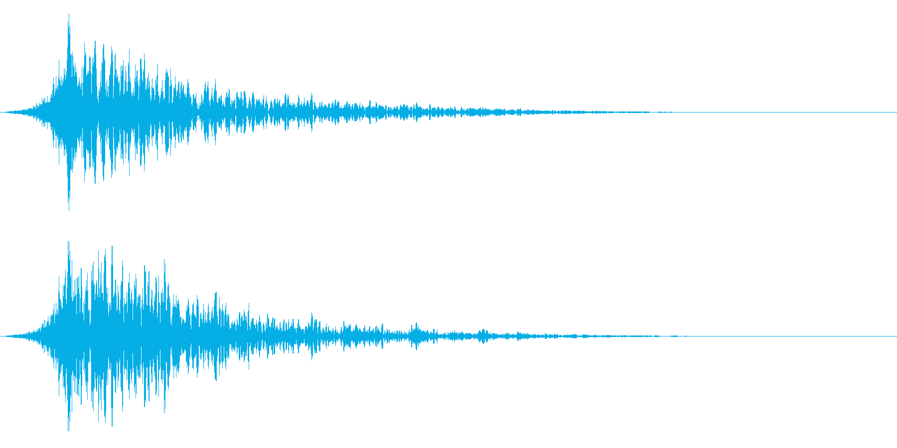 シュードーン-41-1(インパクト音)の再生済みの波形