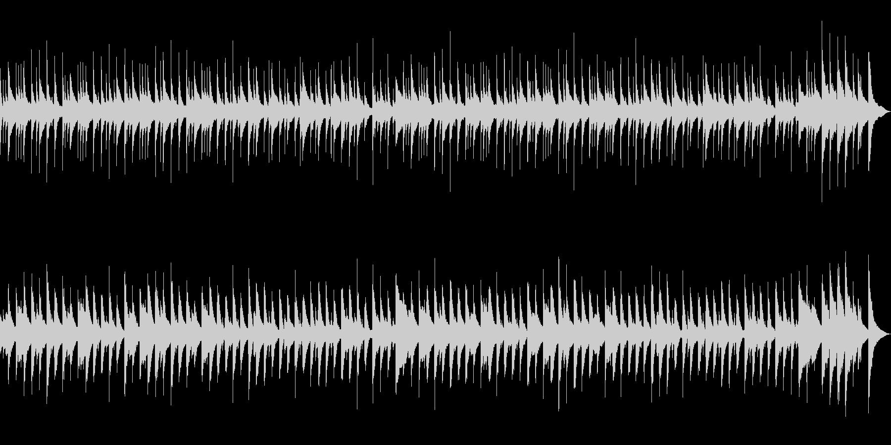 歩く速さでご案内します!ほのぼの木琴にての未再生の波形