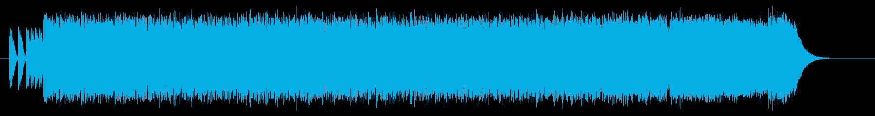 激しく勢いのドラムギターロックサウンドの再生済みの波形