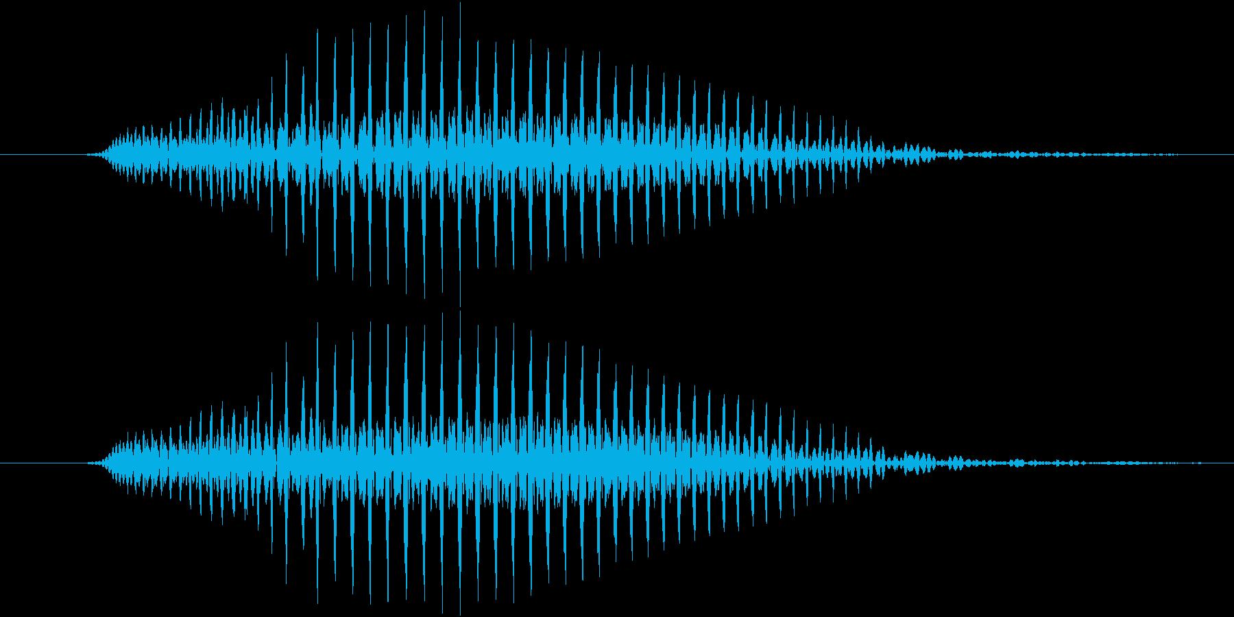 おなら、屁 (高く、とても短い) プゥッの再生済みの波形