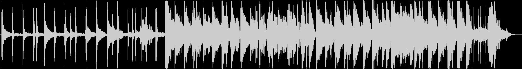 映像同期に適したオシャレなピアノJAZZの未再生の波形