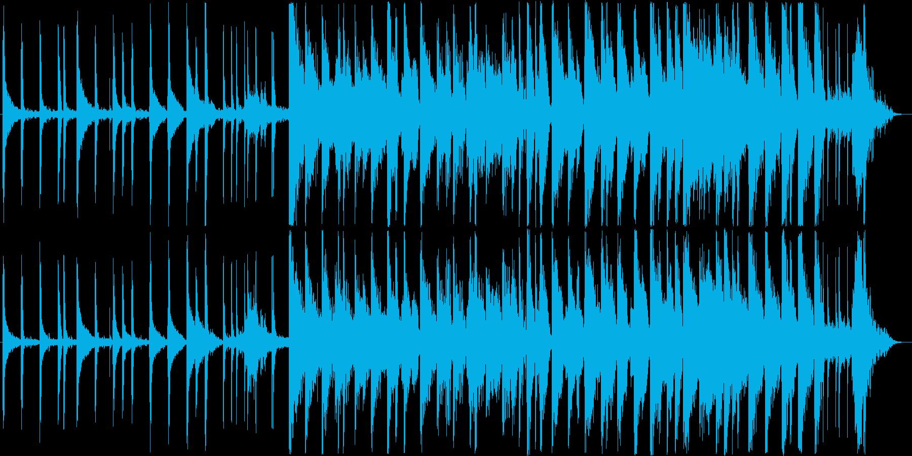 映像同期に適したオシャレなピアノJAZZの再生済みの波形