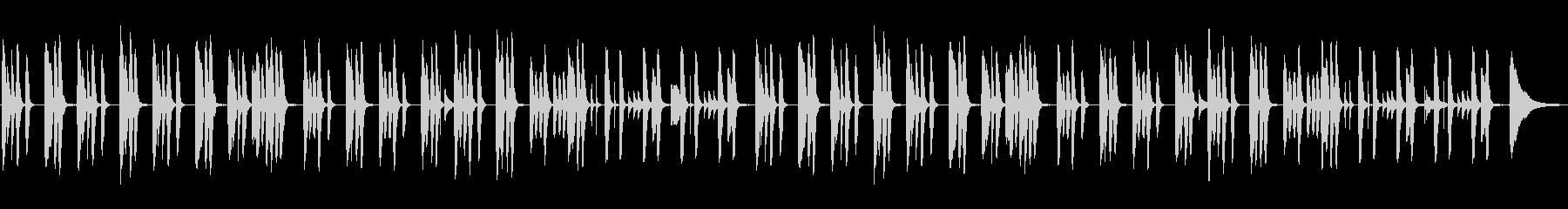 ほっこり・ほんわか・ピアノとフルートの未再生の波形
