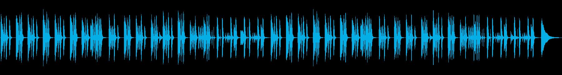 ほっこり・ほんわか・ピアノとフルートの再生済みの波形