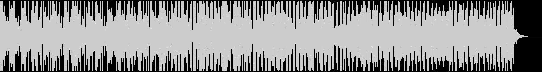 ピアノとブレイクビートのクールな楽曲の未再生の波形