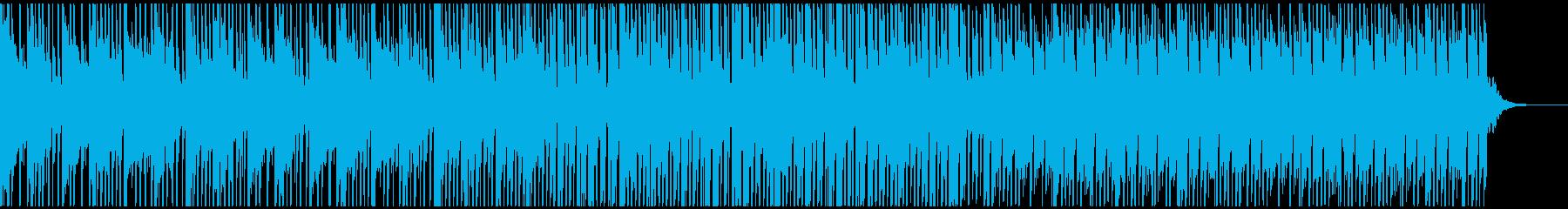 ピアノとブレイクビートのクールな楽曲の再生済みの波形