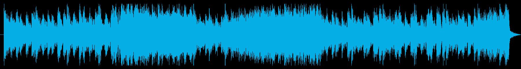 ストリングスメインの激しい戦闘曲の再生済みの波形