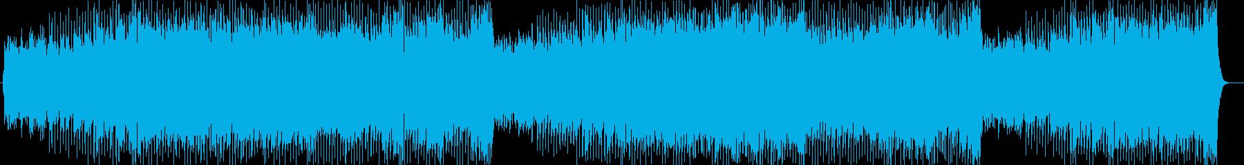 モダンで洒落たアップテンポのテクノポップの再生済みの波形
