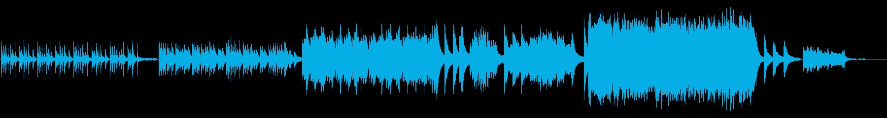 感動的で切ないBGMの再生済みの波形