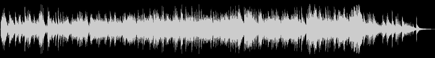 悲しい、沈むようにシリアスなピアノBGMの未再生の波形