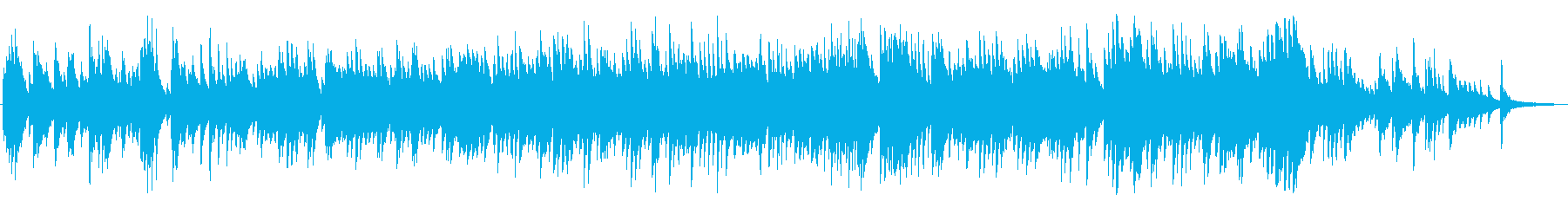 悲しい、沈むようにシリアスなピアノBGMの再生済みの波形