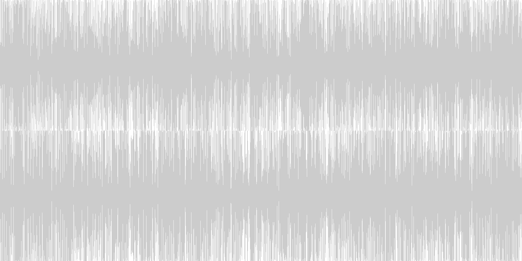 ザー。雨の音(短め)の未再生の波形
