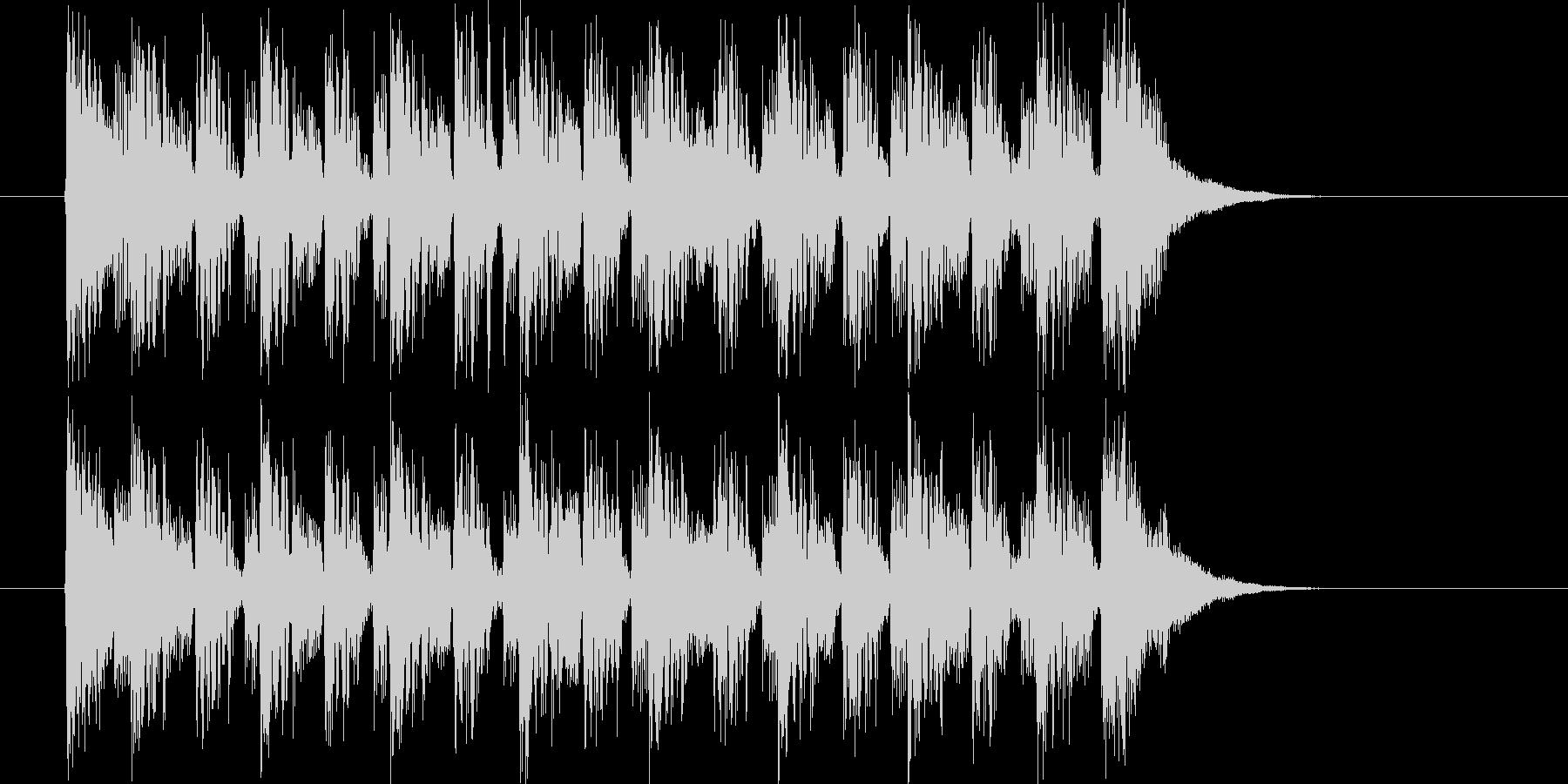 神秘的で近未来的なシンセとピアノジングルの未再生の波形