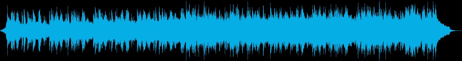伝統的で緩やかなフォークソングの再生済みの波形